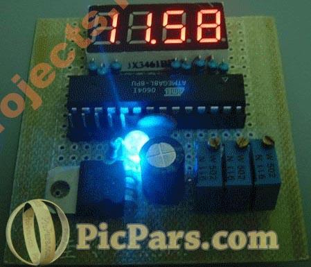 پروژه ولت متر دیجیتال 0 تا 25 ولت با AVR به زبان بیسیک