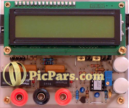 پروژه اندازه گیری ظرفیت خازن و سلف با AVR